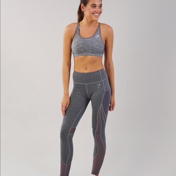 f2d7b02eca3446 Gymshark Pants | Sleek Sculpture Leggings Charcoal Marl | Poshmark